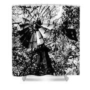 Overgrown Windpump Shower Curtain