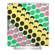 Overlayed Dots Shower Curtain by Louisa Knight