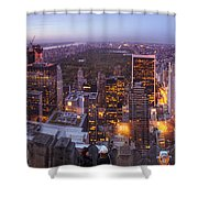 Overlooking Central Park Shower Curtain