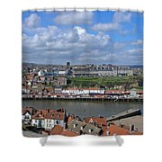 Overlooking Whitby Shower Curtain