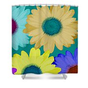 Oversize Daisies Shower Curtain