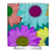 Oversize Daisies Two Shower Curtain