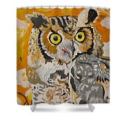 Owl In The Fall Shower Curtain
