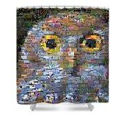 Owl Mosaic Shower Curtain