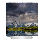 Oxbow Light And Clouds Shower Curtain