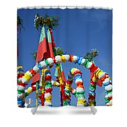 Oxen Cart Decorations Shower Curtain
