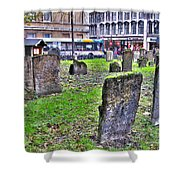 Oxford England Graveyard Shower Curtain