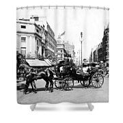 Oxford Street - London - England - C 1909 Shower Curtain