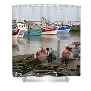 Oyster Harvest Shower Curtain