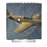 P 51 Mustang On A Mission Shower Curtain