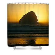 Pacific City Sunset Shower Curtain