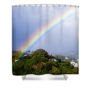 Pacific Hieghts Rainbow Shower Curtain