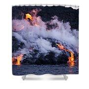 Pacific Lava Flow II Shower Curtain