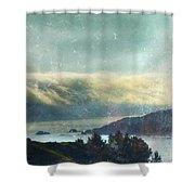 Pacific Ocean Fog Bank  Shower Curtain
