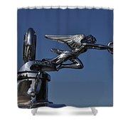 Packard Angel Hood Ornament Shower Curtain