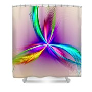 Pacock-feathers Shower Curtain