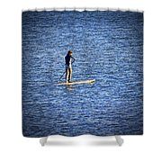 Paddle Boarding Shower Curtain