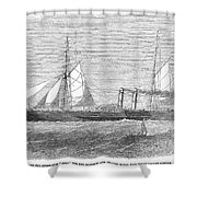 Paddle Wheel Packet Ship Shower Curtain