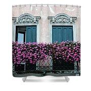 Padua Balcony And Window Boxes Shower Curtain