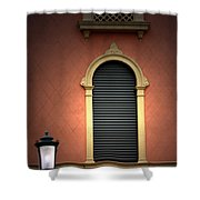 Padua Window And Lamp Light Padua Italy Shower Curtain