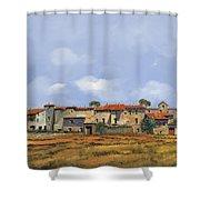 Paesaggio Aperto Shower Curtain by Guido Borelli