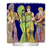 Pageant Couples Shower Curtain