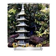 Pagoda Tower Of Zen Shower Curtain