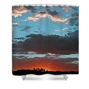 Pagosa Springs Colorado Sunset Shower Curtain