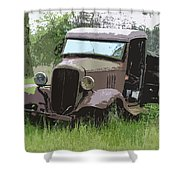 Painted 30's Chevy Truck Shower Curtain