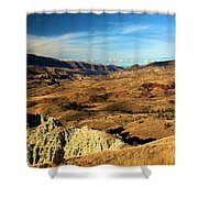 Painted Blue Basin Shower Curtain