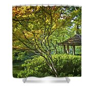 Painted Gardens Shower Curtain