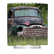 Painted Gmc Truck Shower Curtain