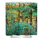 Painted Gold With Sunlight Shower Curtain