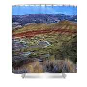 Painted Hills At Dusk Shower Curtain