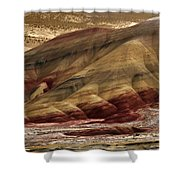 Painted Hills Grooves Shower Curtain