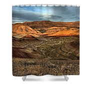 Painted Hills In The Fossil Beds Shower Curtain