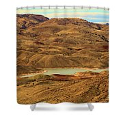 Painted Hills Lake Shower Curtain