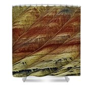 Painted Hills Lines Shower Curtain