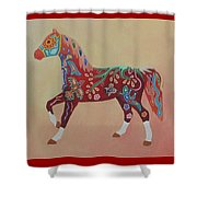 Painted Horse A Shower Curtain