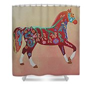 Painted Horse B Shower Curtain