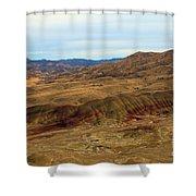 Painted Landscape Shower Curtain
