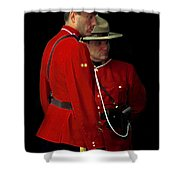Painted Mounties Shower Curtain