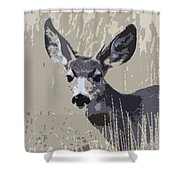 Painted Muley Shower Curtain