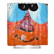 Painted Pumpkin 1 Shower Curtain