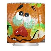 Painted Pumpkin 3 Shower Curtain