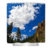 Painted Rocks Shower Curtain