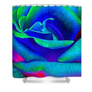 Painted Rose 2 Shower Curtain