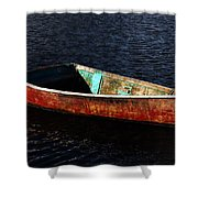 Painted Row Boat Shower Curtain