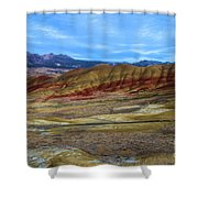Painted Sky Over Painted Hills Shower Curtain