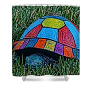 Painted Turtle Sprinkler Shower Curtain